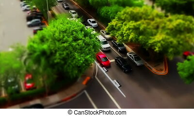 Tilt Shift traffic Miami Florida