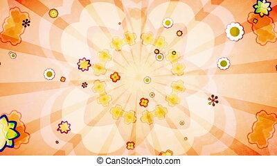 Flower Vintage Looping Background