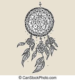 Dream Catcher Decorative Vector illustration - Dream Catcher...