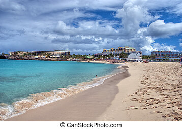Saint Maarteen Coast, Dutch Antilles - Coast in Saint...