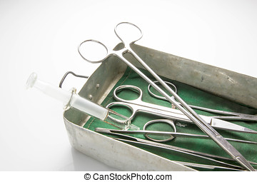 Old set of surgical instrument - Old set of surgical...