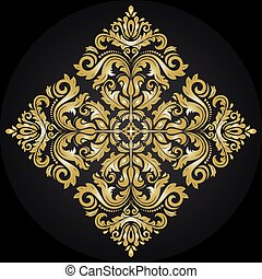 Orient Abstract Vector Pattern - Oriental vector ornament...