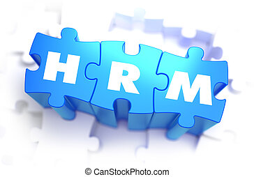 HRM - White Word on Blue Puzzles. - HRM - Human Resources...