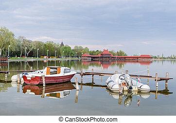 boats at lake Palic
