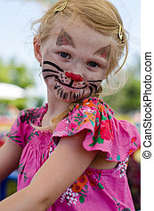 face-painting, gato