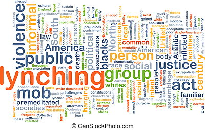 Lynching background concept - Background concept wordcloud...
