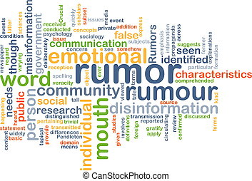 Rumor background concept - Background concept wordcloud...