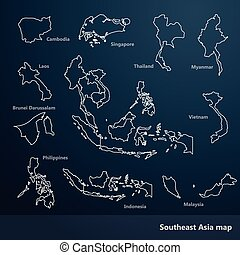 Southeast Asia map - Asian Economic Community, Association...