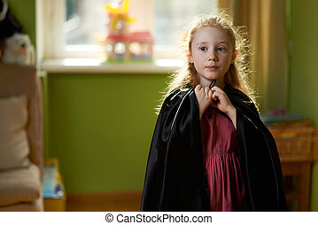 girl dresses black cape - sweet girl dresses black cape