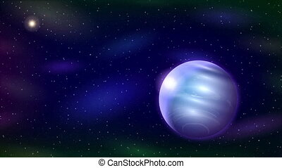 Planet Neptune, Seamless Loop - Fullhd 1920x1080 Progressive...