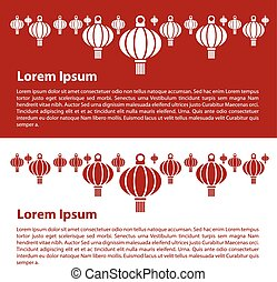 banners with chinese lantern