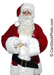 Santa Claus with measure tape