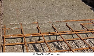 Concrete is spreading in foundation