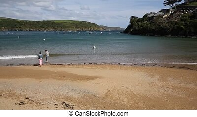 South Sands beach Salcombe Devon uk - South Sands beach...