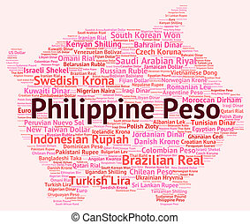 Philippine Peso Indicates Foreign Exchange And Coinage -...