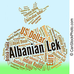 Albanian Lek Shows Foreign Exchange And Banknote - Albanian...