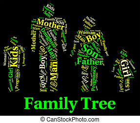 Family Tree Shows Blood Relative And Children - Family Tree...