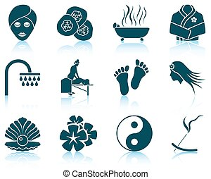 Set of spa icons. EPS 10 vector illustration without...