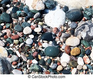 Sea shore texture. EPS 10 vector illustration without...