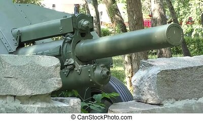 Howitzer d-30 retro manufactured in the Soviet Union