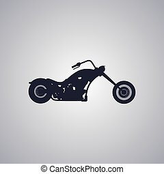 chopper motorcycle - classic chopper motorcycle theme vector...