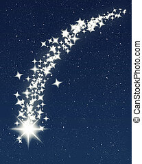 shooting star - great image of a shooting wishing star for...