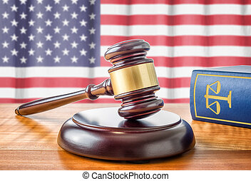 A gavel and a law book - USA