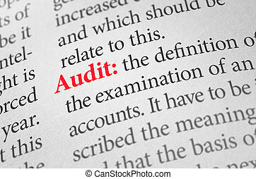 Definition of the word Audit in a dictionary