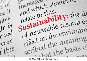 Definition of the word Sustainability in a dictionary