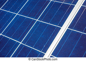 Solar Panel up Close - An up close view of a solar panel...