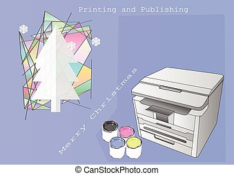 Printing and Publishing Christmas. Greeteng card for...