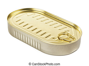 Tincan With Key - tincan with key, isolated on white, top...