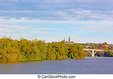 Pamorama along the Potomac River - Fall colors of Potomac...