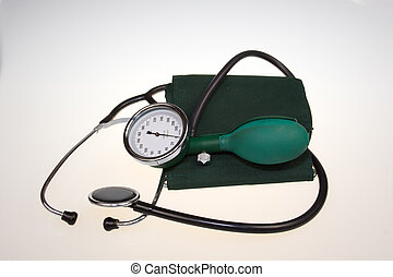 Medical apparatus for measuring blood pressure.It is a...