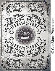 Vintage ornament on grunge background for design