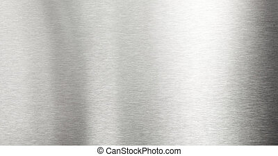 Brushed metal background - Shiny brushed metal plate surface