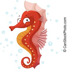 Cute seahorse isolated T-Shirt design for children