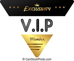 vip member badge theme vector art illustration