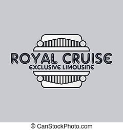 limousine service theme vector graphic art illustration