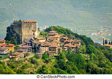 Tenno, Trentino Alto Adige (Italy), village and castle