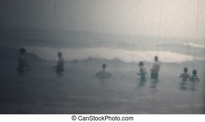 8mm Vintage 1966 People On Beach - Original vintage 8mm home...