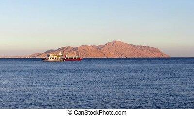 Red sea and Tiran Island