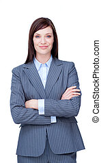 Portrait of an attractive businesswoman smiling at the camera