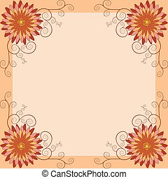Floral vintage background, invitation or greeting card