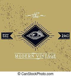 all seeing eye of horus theme vector art illustration