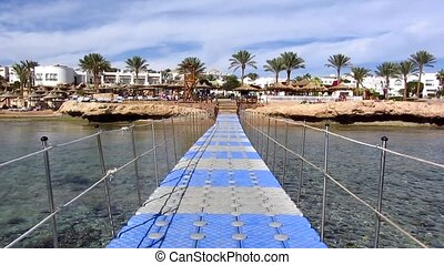 Pontoon in Egypt - Plastic pontoon in Egypt on the Red Sea