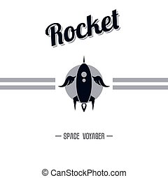 space shuttle rocket theme vector art illustration