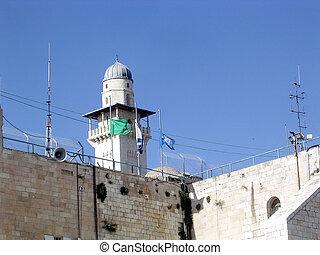 jerusalén, minarete,  ghawanima,  2005