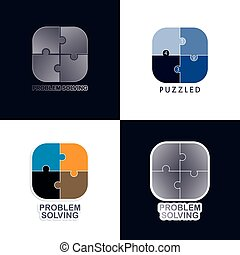 problem solving media icon button vector graphic art...
