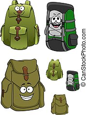 Travel backpacks cartoon characters with pockets - Travel...